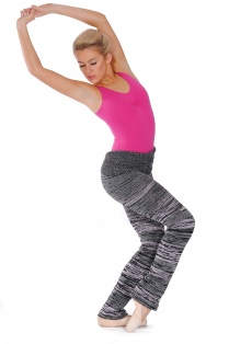 Long Knit Dance Stripe Pants