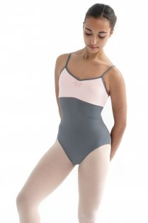 Ladies' Sleeveless Camisole Two Tone Leotard