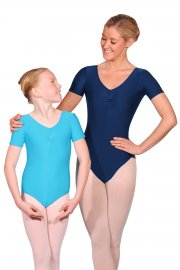 Jeanette Short Sleeve Nylon/Lycra Leotard