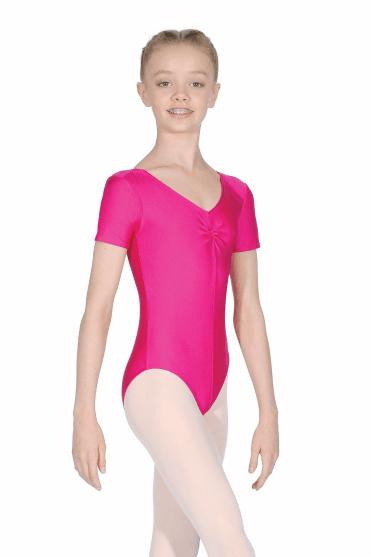 Jeanette Short Sleeve Nylon/Lycra Leotard