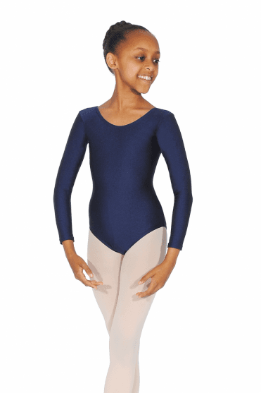 Julie Long Sleeve Nylon/Lycra Leotard