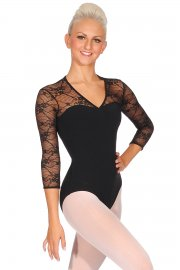 Kate Lace Sleeve Leotard