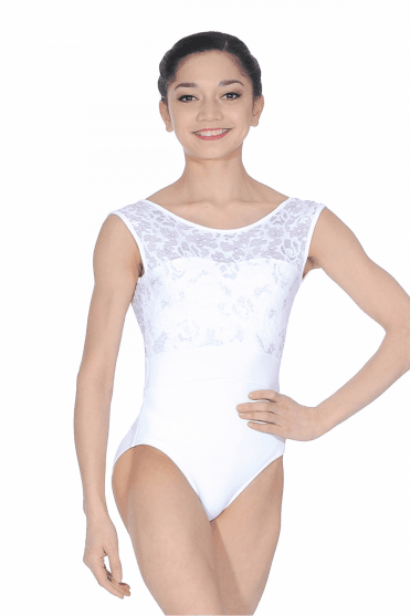 Lace Overlay Leotard