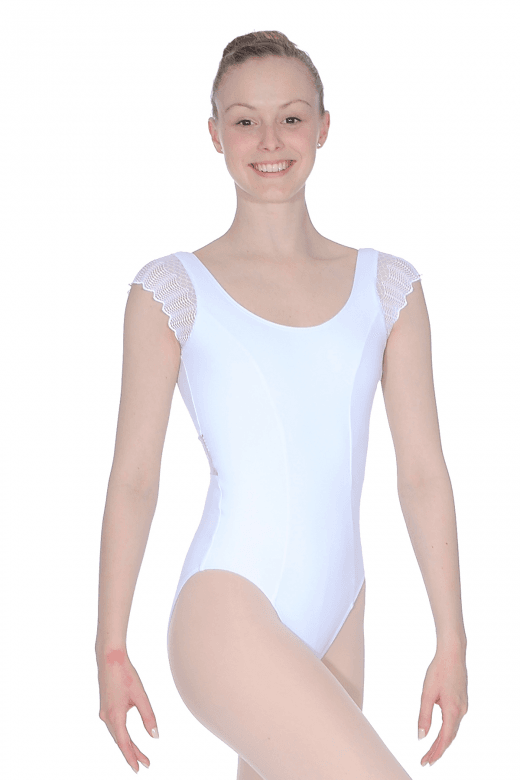 So Danca Lace Sleeve And Back Leotard