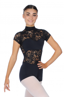 Lace Turtle Neck Leotard