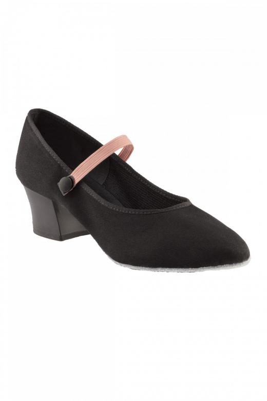 Capezio Ladies' Academy Canvas Character Shoes - Cuban Heel