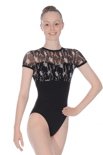 Mirella Ladies' Cap Sleeve Leotard