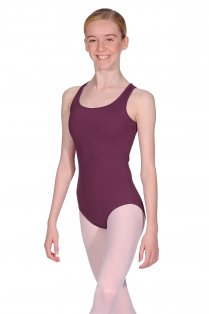 Ladies' Geometric Mesh Back Leotard
