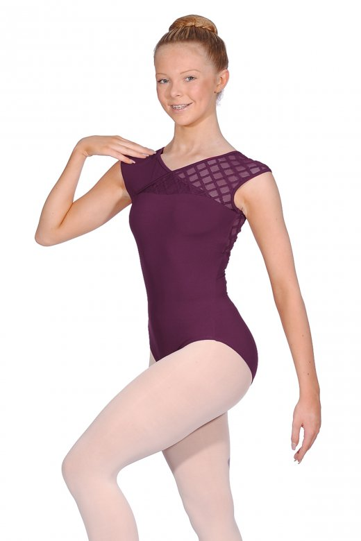 Mirella Ladies' Geometric Mesh Leotard