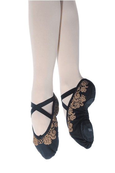 Ladies' Lace Print Ballet Slippers