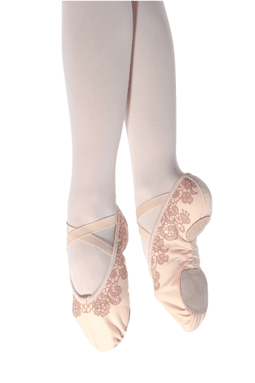 677c1982438 Ladies  Lace Print Ballet Slippers New