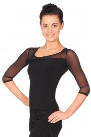 Ladies' Long Sleeve Mesh Dance Top