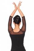 So Danca Ladies' Long Sleeve Mesh Dance Top