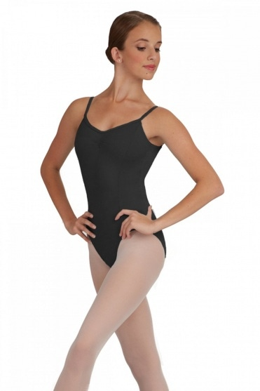 REGULATION SLEEVELESS BALLET LEOTARD WITH RUCHED FRONT IN ISTD /& RAD 4 COLOURS