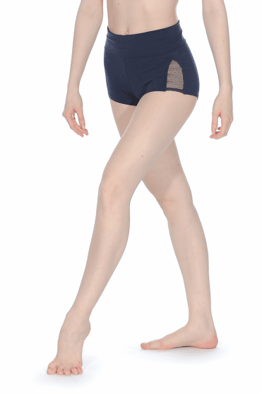 Ladies Shorts with Lace Panel Capezio