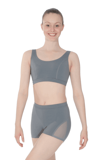 Ladies Shorts With Mesh Panels Capezio