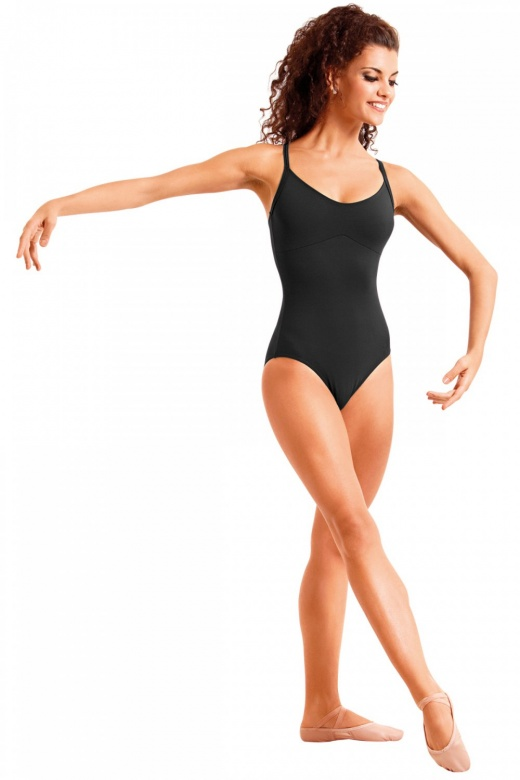 So Danca Ladies' Sleeveless Leotard with Cross-Over Diamante Straps