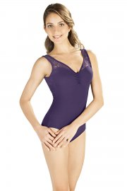Ladies' Sleeveless Leotard with Lace Detail