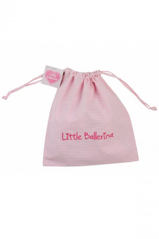 Little Ballerina Large Gingham Shoe Bag