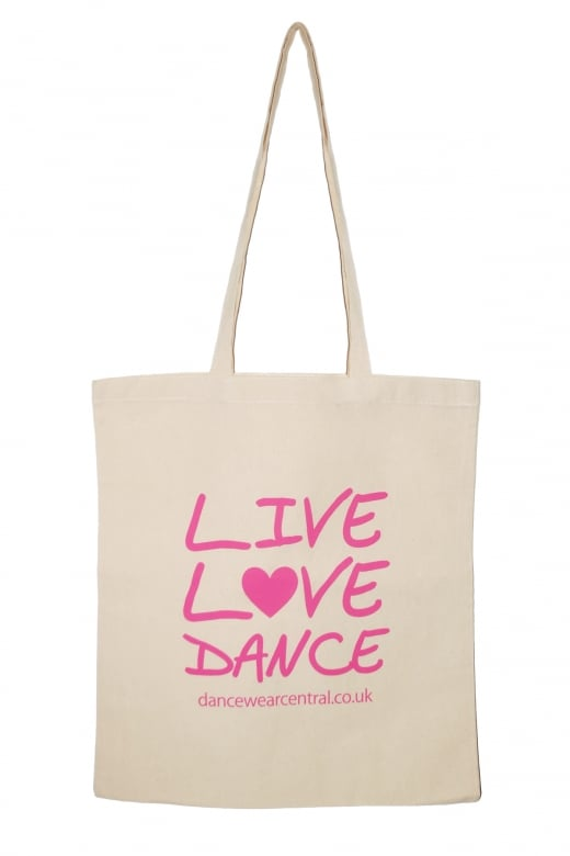 "Dancewear Central ""Live Love Dance"" Cotton Shopper"
