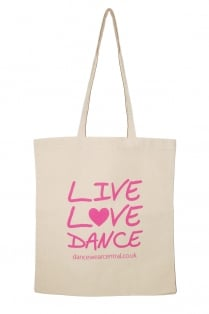 """Live Love Dance"" Cotton Shopper"