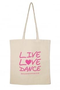 """Live Love Dance"" Cotton Shopper"