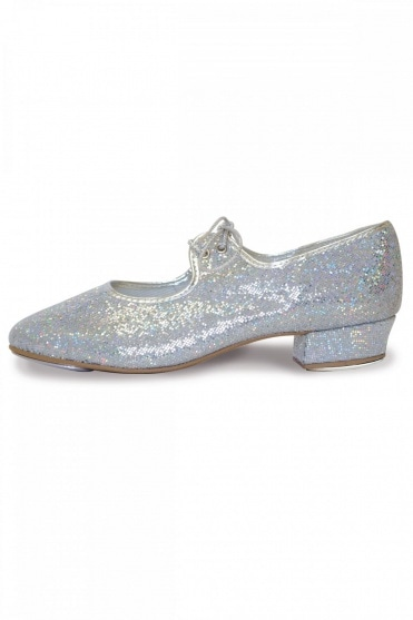 Low Heel Hologram Tap Shoes