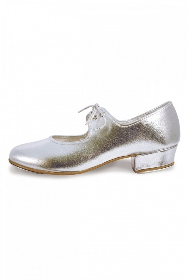 Low Heel Silver Tap Shoes