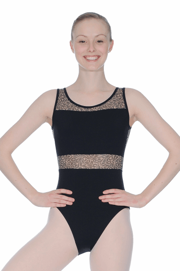 Mesh Sleeveless Leotard
