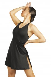 Micropoly Halter Neck Dress