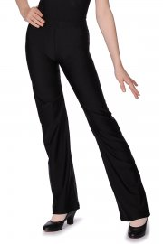 Nylon/Lycra Flared Leg Jazz Pants