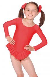 Nylon/Lycra Long Sleeve Frilly Leotard
