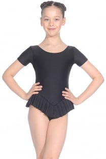 Nylon/Lycra Short Sleeve Frilly Leotard