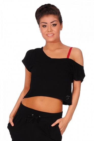Wide Neck Crop Top