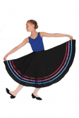 Roch Valley Poly-cotton Character Skirt with coloured ribbons