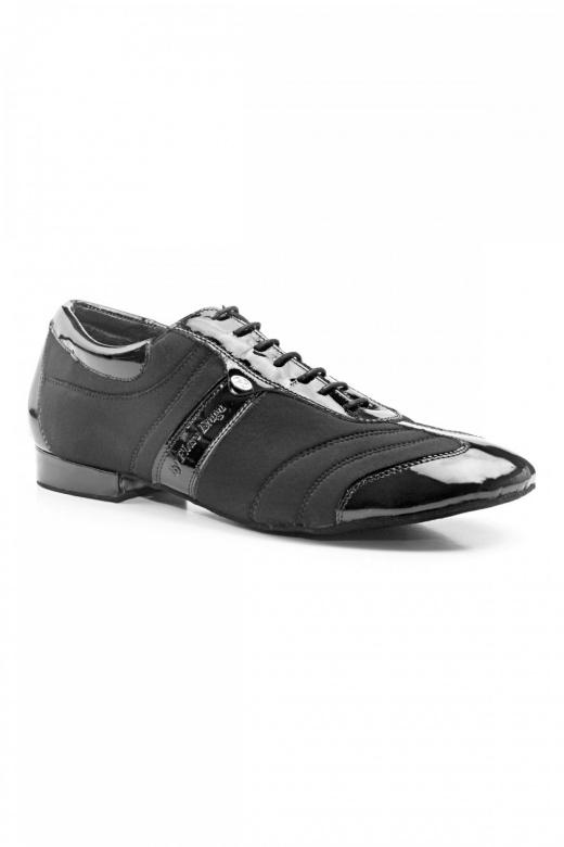Port Dance Pietro Men's Patent/Nubuck Latin Ballroom Shoes