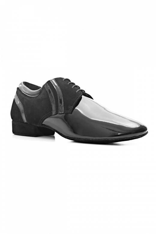 Port Dance Premium Men's Patent/Nubuck Ballroom Shoes