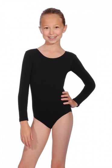 Donna Cotton Long Sleeve Children's Leotard