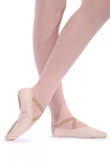 Split Sole Canvas Ballet Shoes - Wide Fit