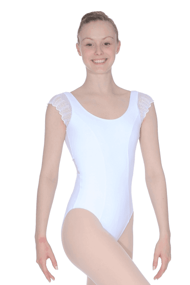 Lace Sleeve And Back Leotard