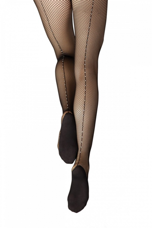 Capezio Professional Fishnet Tights with Rhinestones