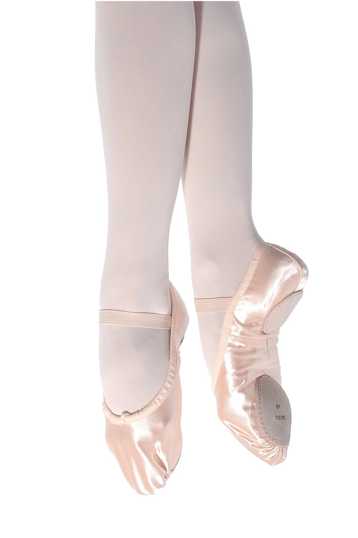 Split Sole Satin Ballet Shoes