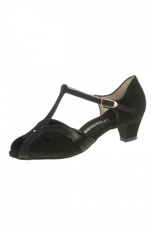 Diamant Python Print T-Bar Ladies' Dance Shoes