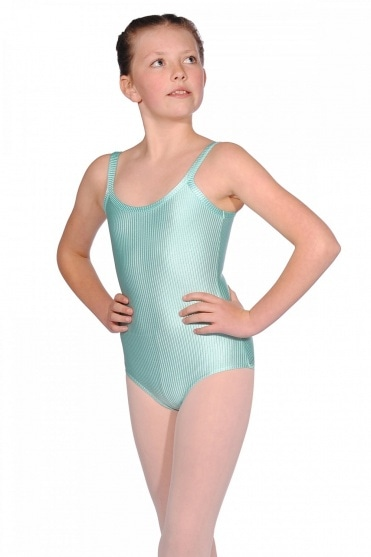 Girls' Ribbed Lycra Camisole Leotard
