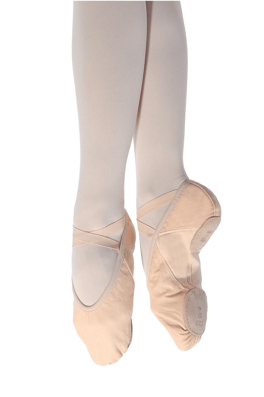 Katz Dancewear Girls Ladies Black Leather Wide FIT Full Sole Ballet Dance Shoes