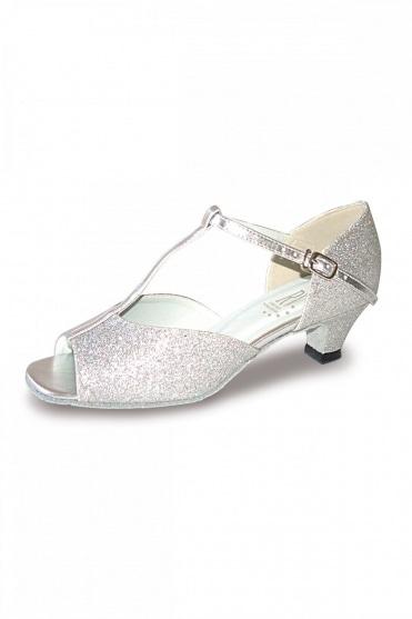 Aduo Silver Low Heel Ballroom Shoes