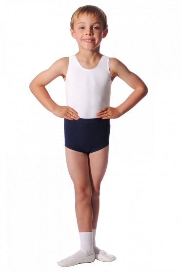 Boys' Trunk Style Cotton Dance Shorts