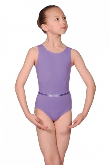 Cotton June Sleeveless Exam Leotard with Belt