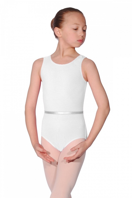 Roch Valley Cotton June Sleeveless RAD Exam Leotard with Belt