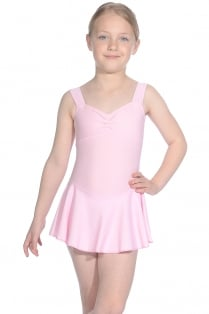 Emilie Matte Lycra Sleeveless Skirted Leotard